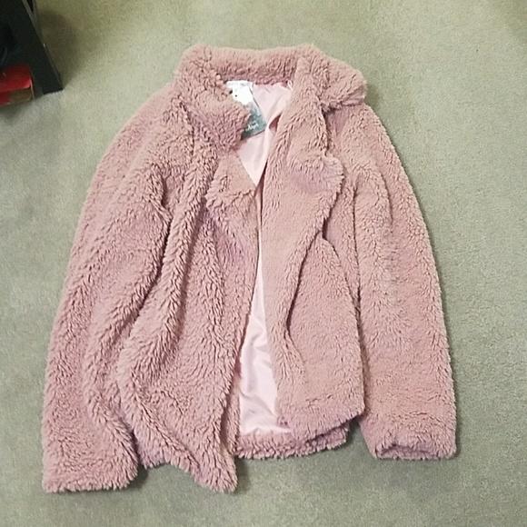 6790394a8 Pink Fuzzy Jacket NWT